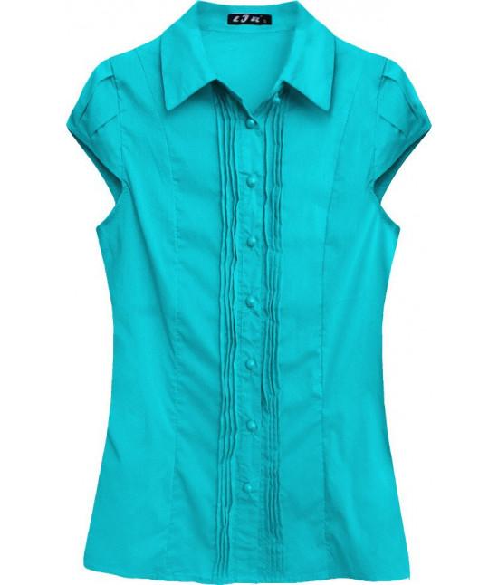 Dámska košeľa s krátkymi rukávmi MODA050 zelená