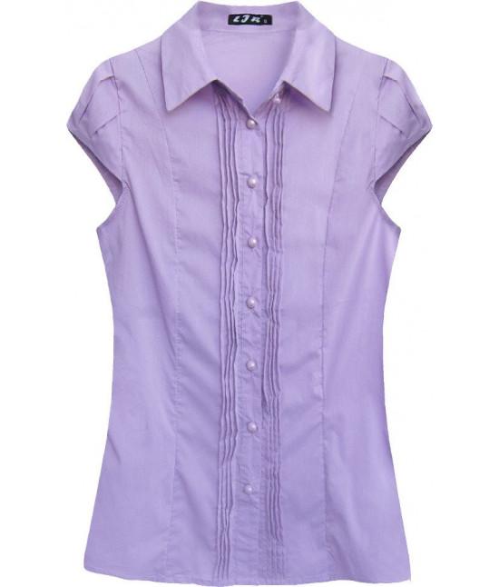 Dámska košeľa s krátkymi rukávami MODA050 fialová