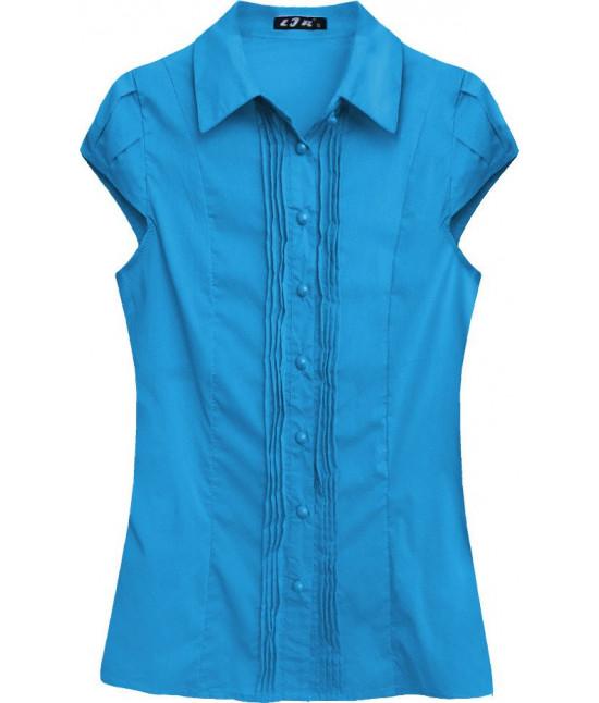 Dámska košeľa s krátkymi rukávmi MODA050 modrá