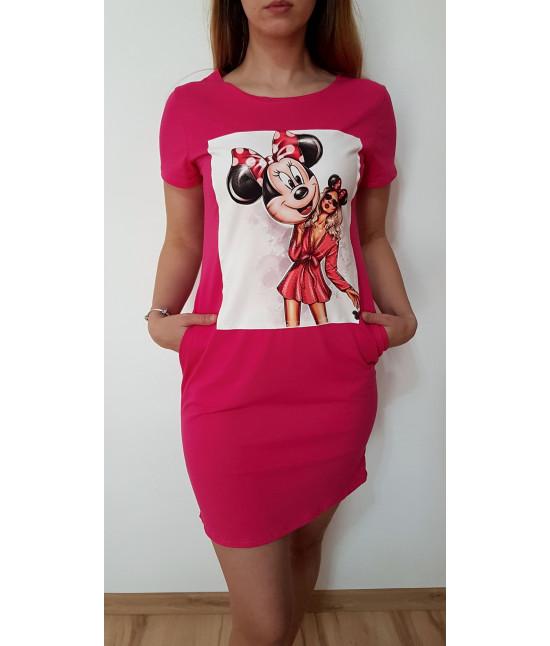 7d5d4f44876e Dámske letné šaty MINNIE ružové - Dámske oblečenie