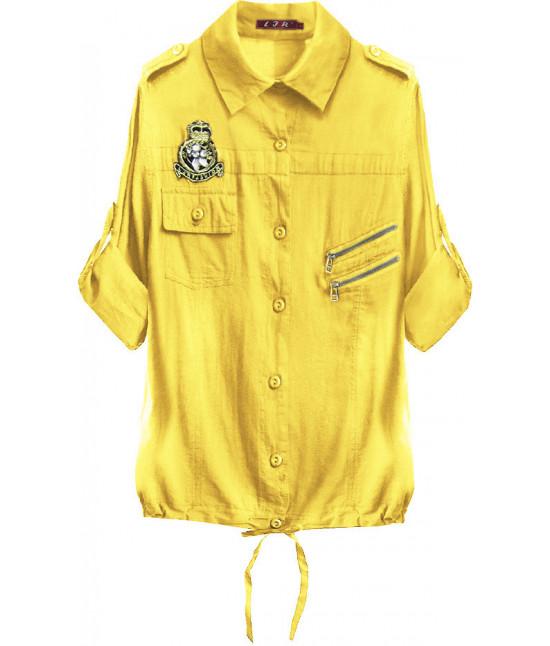 Bavlnená dámska košeľa MODA010 žltá