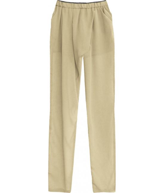 b355b2a78ab2 Dámske letné nohavice MODA151 béžové - Dámske oblečenie