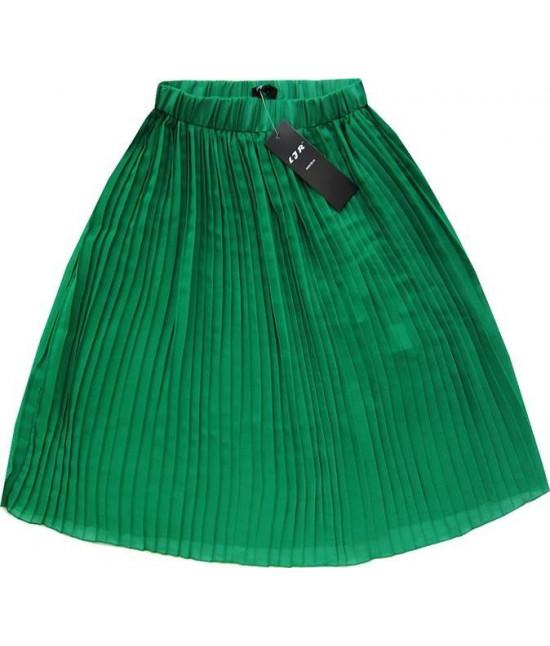 Dámska plisovaná sukňa MODA260 zelená