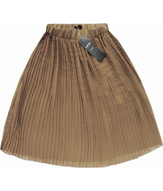 Dámska plisovaná sukňa MODA260 béžová