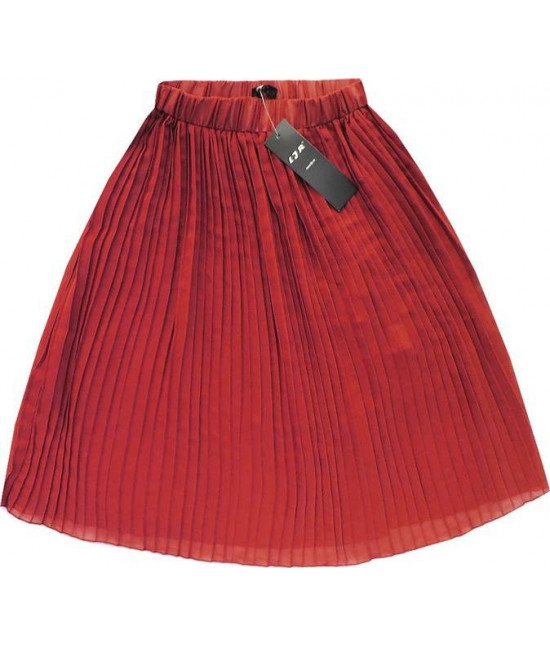 Dámska plisovaná sukňa MODA260 koralová