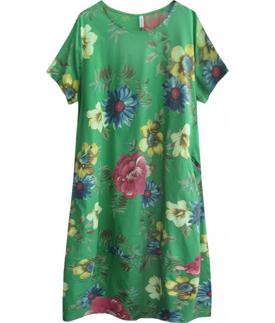 9b3bf3b44d75 Dámske bavlnené šaty v nadmernej veľkosti MODA341 zelené - Dámske ...