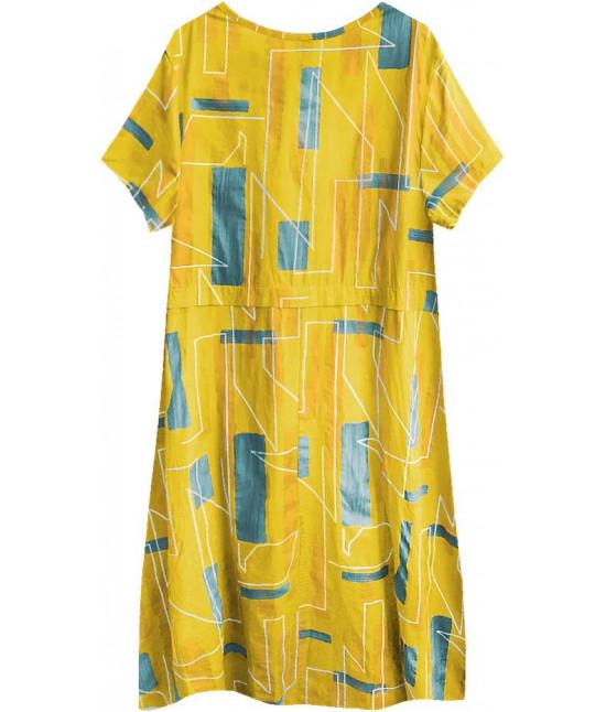 21f4c8ecda1fc Dámske letné šaty v nadmernej veľkosti MODA340 horčicové - Dámske ...