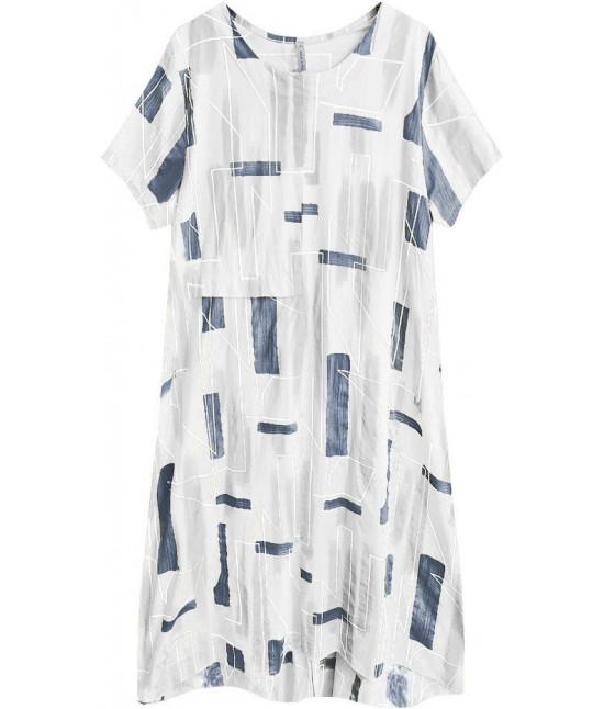 36ee9bb15fcd8 Dámske letné šaty v nadmernej veľkosti MODA340 biele - Dámske ...