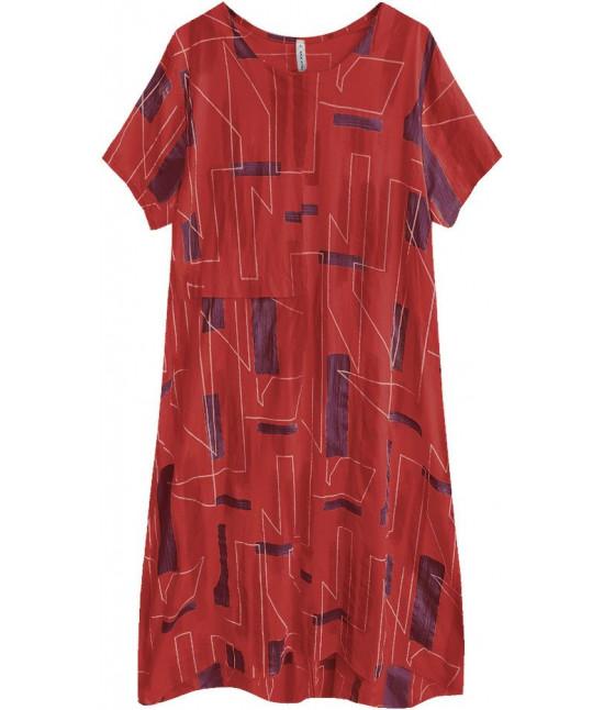 586e40f0e7465 Dámske letné šaty v nadmernej veľkosti MODA340 červené - Dámske ...