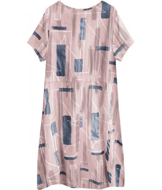 3ae3bac9e389c Dámske letné šaty v nadmernej veľkosti MODA340 staroružové - Dámske ...