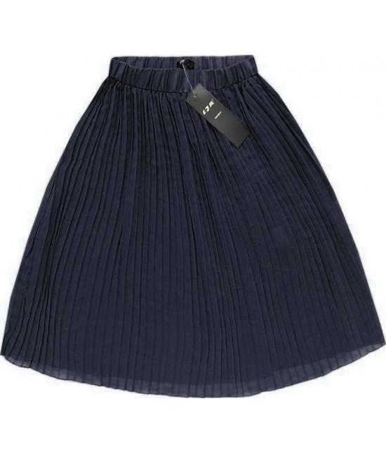 Dámska plisovaná sukňa MODA260 tmavomodrá