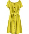 Dámske bavlnené midi šaty MODA398 žlté