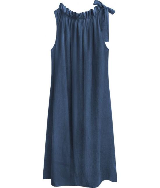 Dámske šaty oversize MODA392 tmavomodré