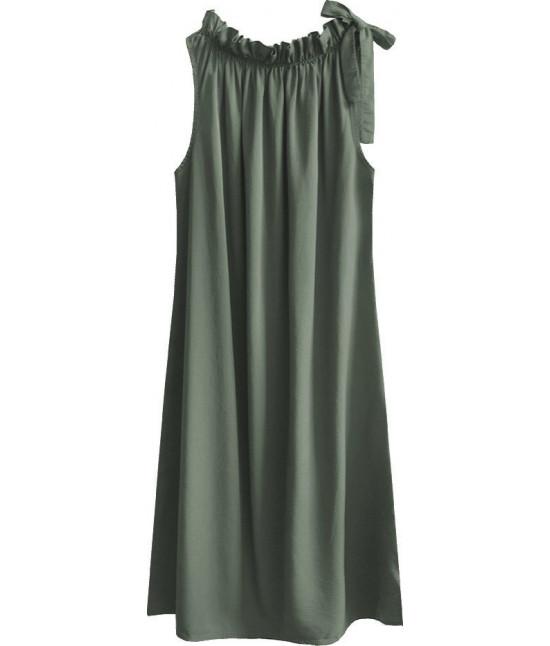 Dámske šaty oversize MODA392 šedozelené