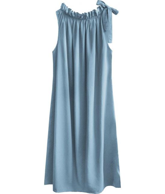 Dámske šaty oversize MODA392 svetlomodré