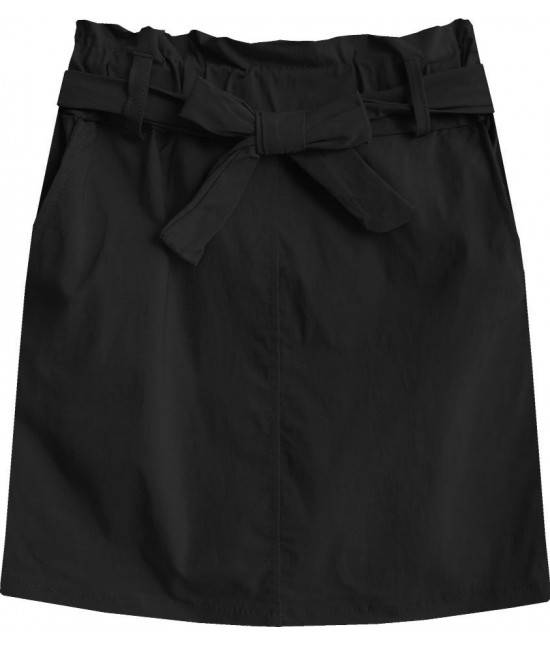 Dámska sukňa mini s vreckami MODA387 čierna