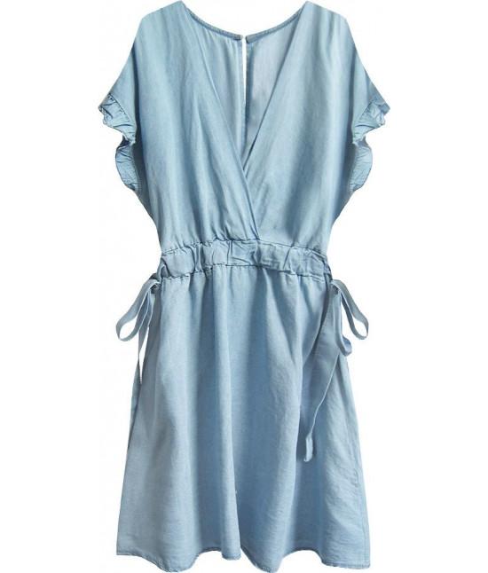 Dámske šaty mini MODA389 svetlomodré