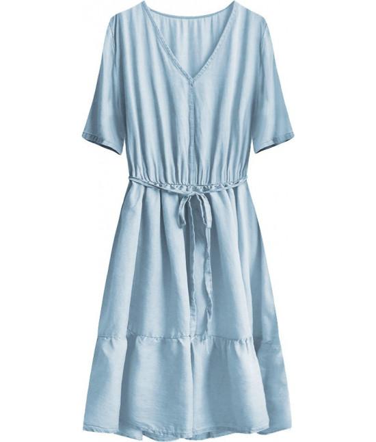 Dámske jeansové šaty MODA391 modré