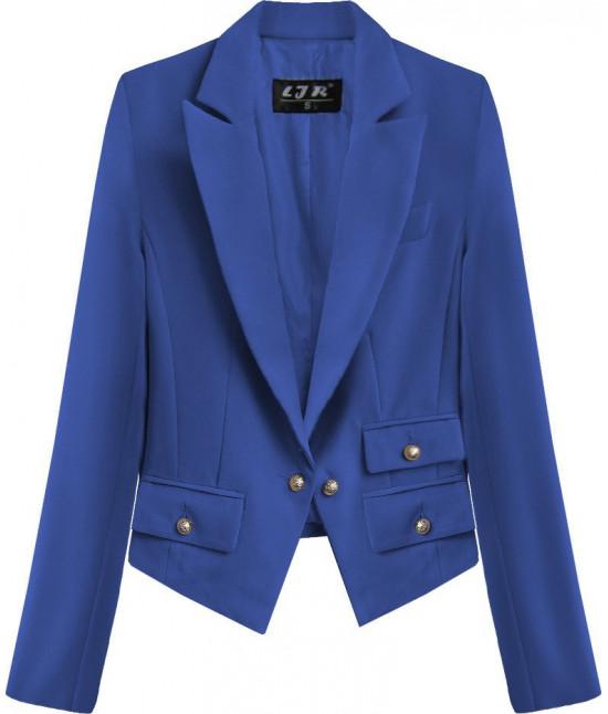 Dámske sako s gombíkmi MODA193 modré
