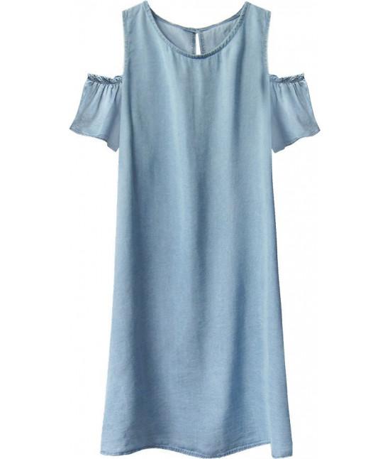 Dámske jeansové šaty MODA401 svetlomodré