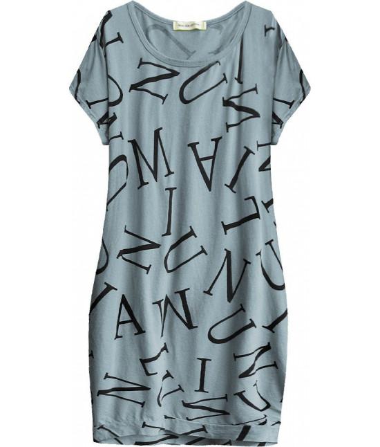 Dámske bavlnené  šaty oversize MODA408 modré