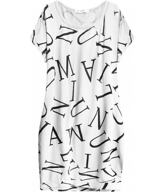 Dámske bavlnené  šaty oversize MODA408 biele