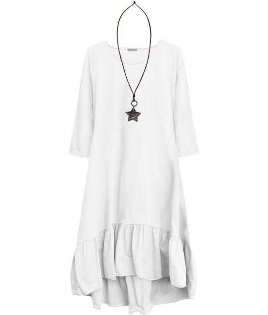 116b60d663c8 Dámske bavlnené šaty oversize MODA403 biele - Dámske oblečenie ...