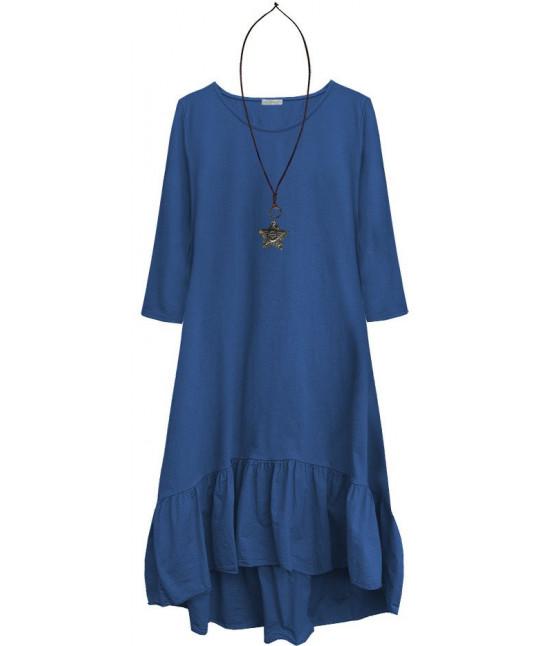 Dámske bavlnené šaty oversize MODA403 modré