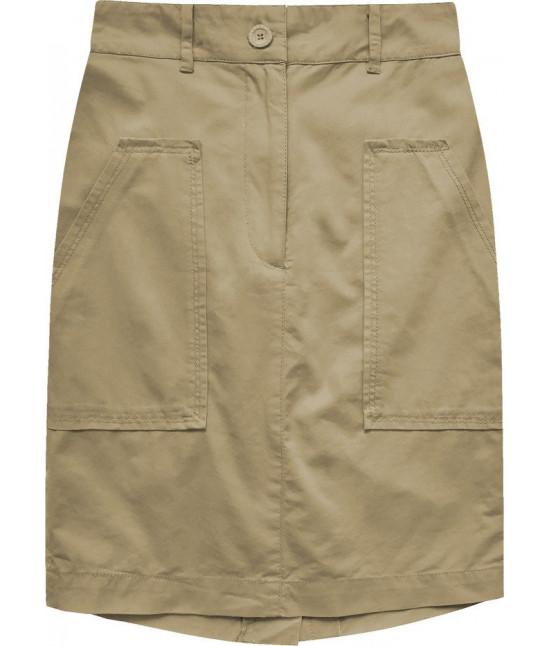 Dámska sukňa s vysokým pásom MODA222 béžová