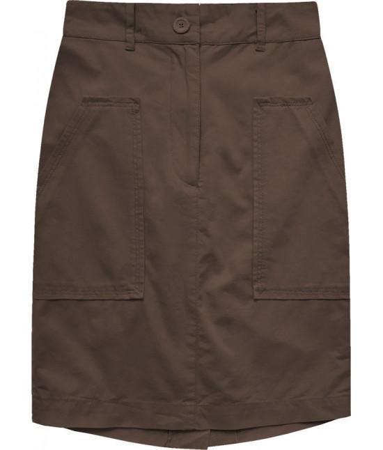 Dámska sukňa s vysokým pásom MODA222 hnedá