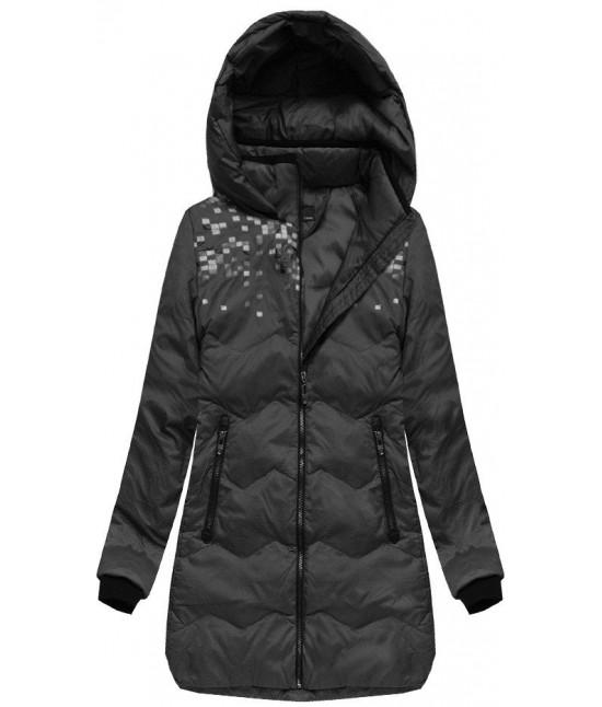 a4f9868b8e86 Dámska zimná bunda s kapucňou MODA005 čierna