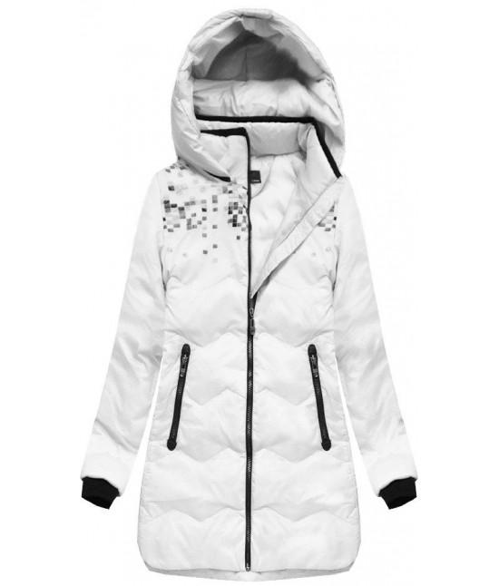 Dámska zimná bunda s kapucňou MODA005 biela