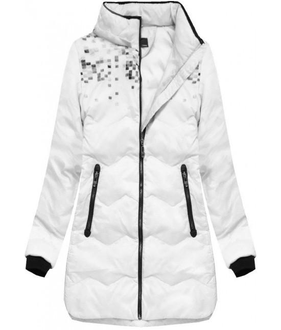 5a8534b53da6 Dámska zimná bunda s kapucňou MODA005 biela - Dámske oblečenie ...