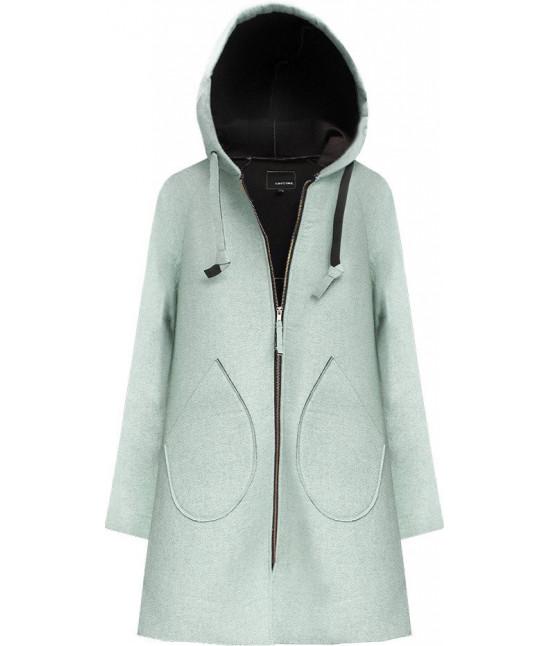 Neoprénový dámsky kabát MODA015 mätový