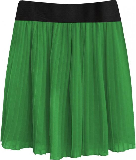 Dámska plisovaná sukňa MODA228 zelená