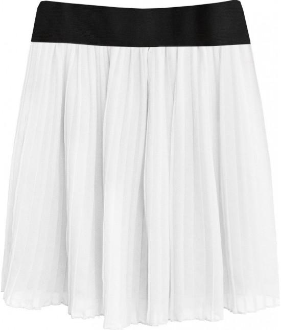 Dámska plisovaná sukňa MODA228 biela