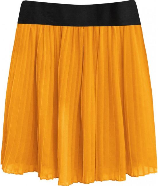 Dámska plisovaná sukňa MODA228 pomarančová 1