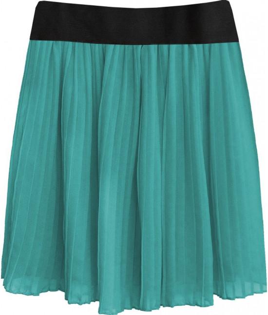 Dámska plisovaná sukňa MODA228 morská