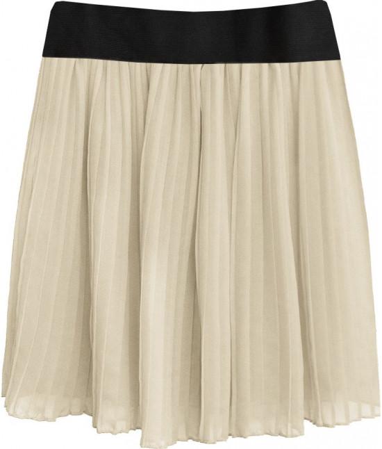 Dámska plisovaná sukňa MODA228 béžová
