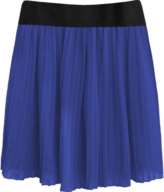 Dámska plisovaná sukňa MODA228 modrá