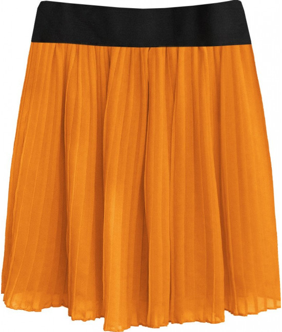 Dámska plisovaná sukňa MODA228 pomarančová 2