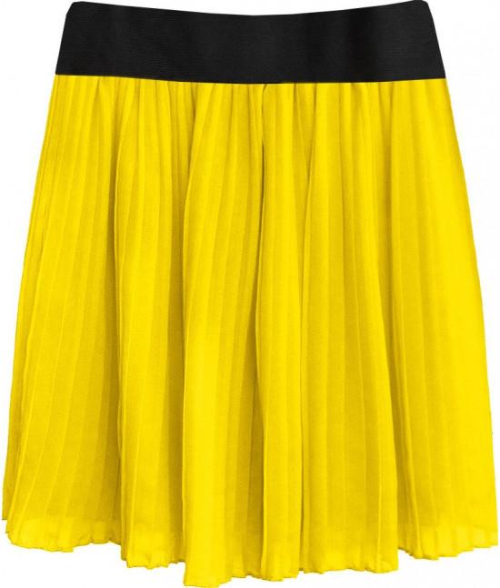 Dámska plisovaná sukňa MODA228 žltá