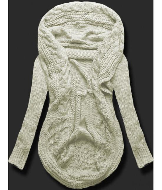 Dámsky sveter kardigan MODA03 béžový