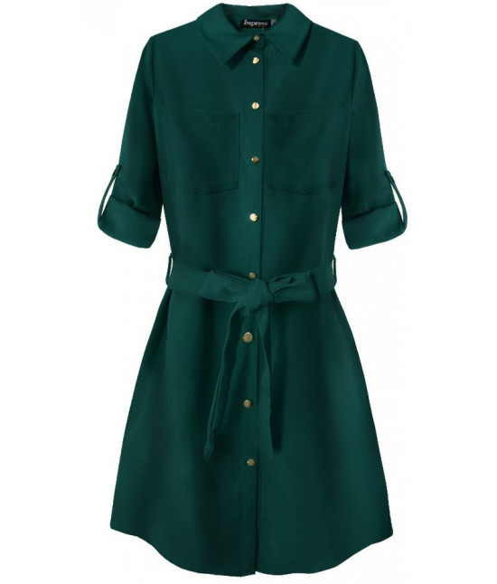Dámske šaty s vreckami MODA204/1 zelené