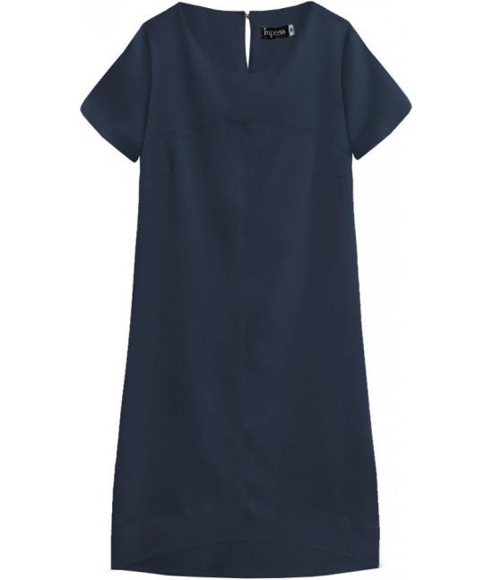 Dámske letné šaty MODA446 tmavomodré