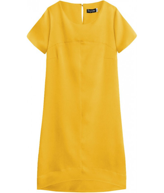 Dámske letné šaty MODA446 žlté
