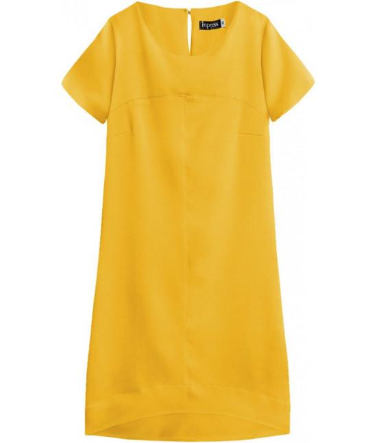 Dámske letné šaty MODA435 žlté