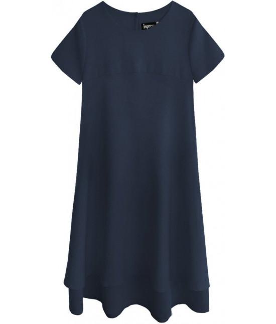 Dámske letné šaty MODA436 tmavomodré