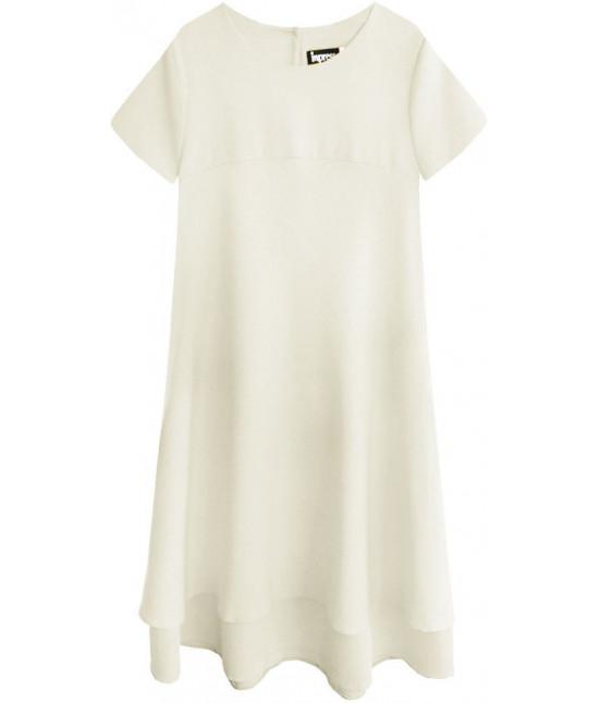 Dámske letné šaty MODA436 béžové
