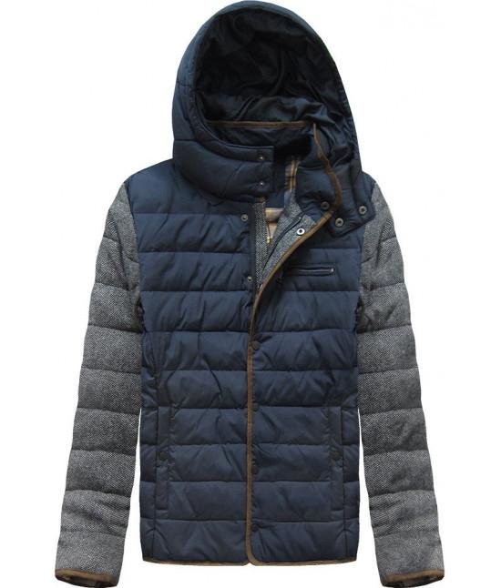 Pánska zimná bunda MODA001 modrá